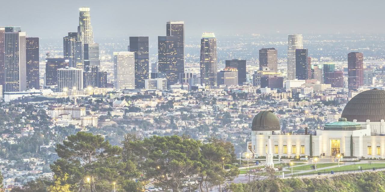 Image of Downtown LA with Griffith Observatory