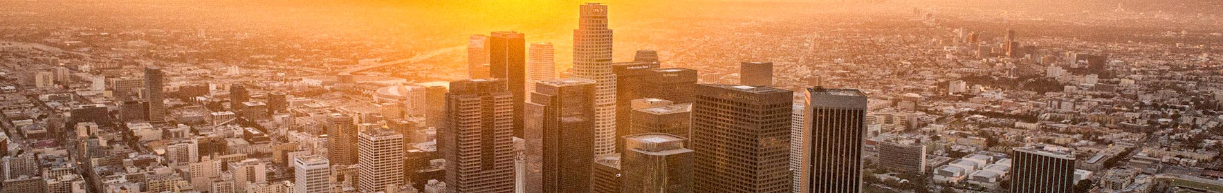 Image of Downtown Los Angeles at sunset